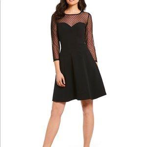 NEW IMNYC Isaac Mizrahi Black Sheer Sleeve Dress